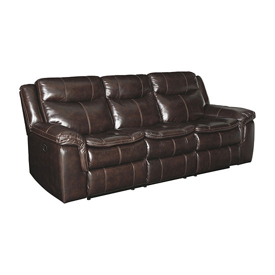 Signature Design by Ashley Lockesburg Pad-Arm Reclining Sofa