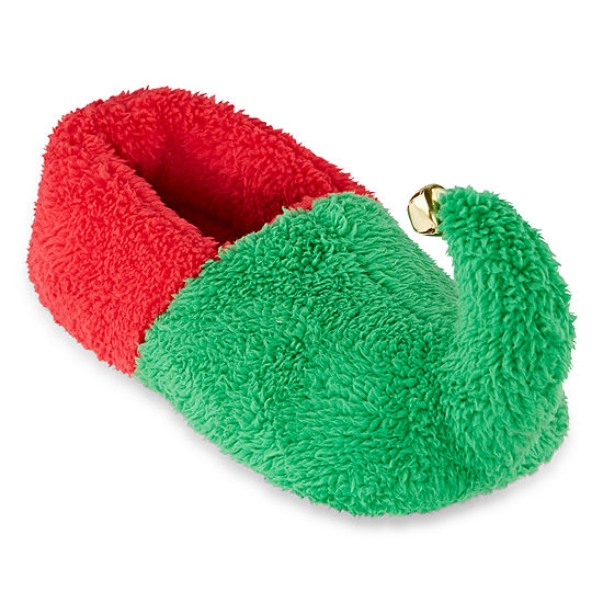 Pj Couture Green Elf Womens Slip-On Slippers