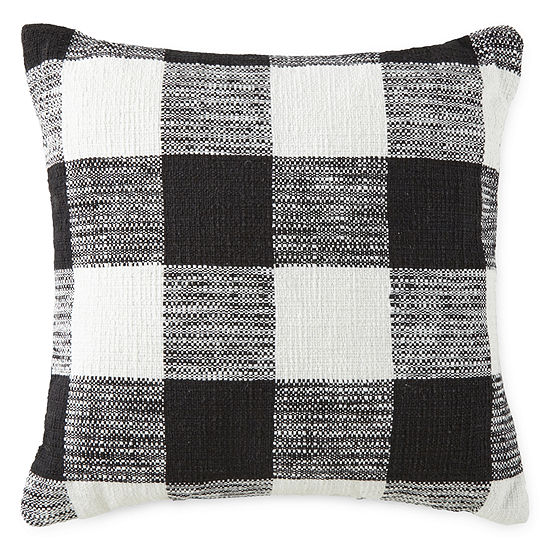 North Pole Trading Co. Woven Buffalo Check Square Throw Pillow