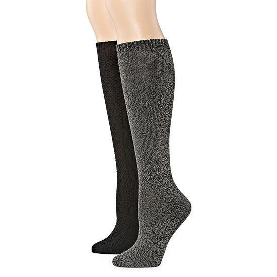 Mixit 2 Pair Knee High Socks Womens