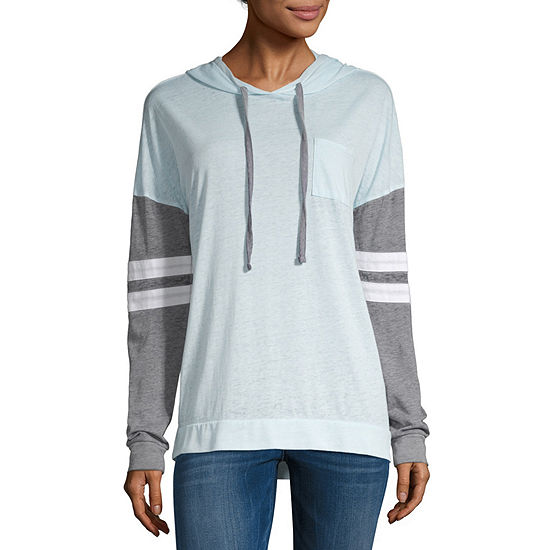 Derek Heart Womens Long Sleeve Hoodie-Juniors
