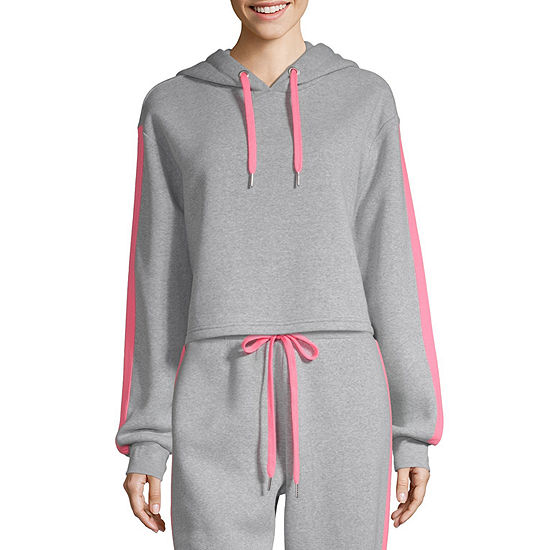 Cut And Paste Womens Long Sleeve Fleece Hoodie-Juniors