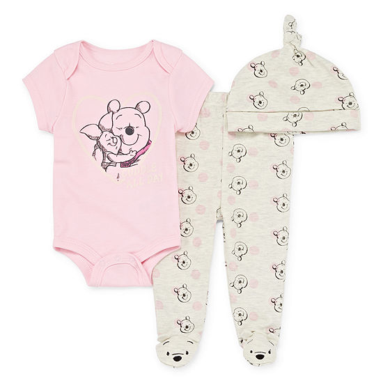 Disney Girls 3-pc. Mickey and Friends Baby Clothing Set-Baby