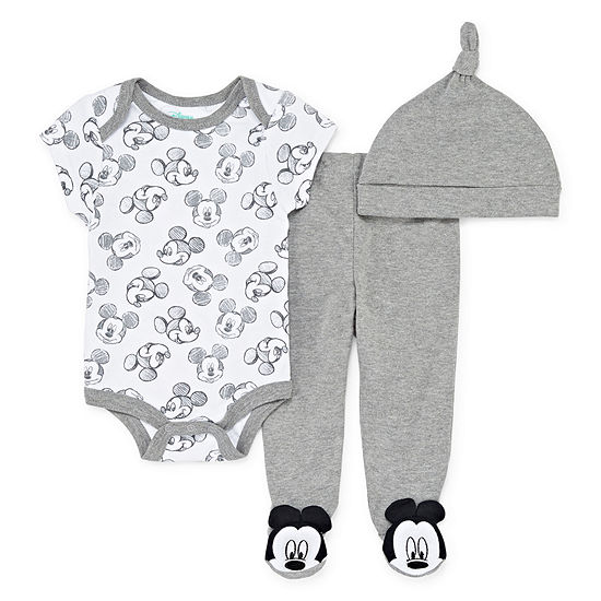 Disney Unisex 3-pc. Mickey and Friends Baby Clothing Set-Baby