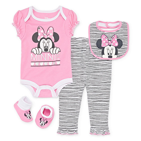 Disney 4 Pc Mickey And Friends Baby Clothing Set Baby Girls