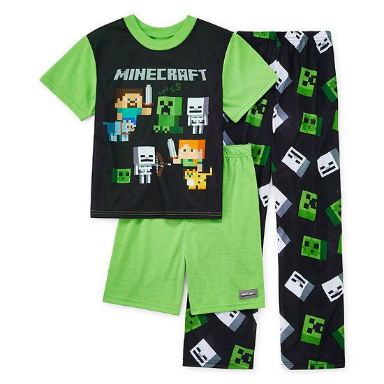 Little & Big Boys 3-pc. Minecraft Pajama Set