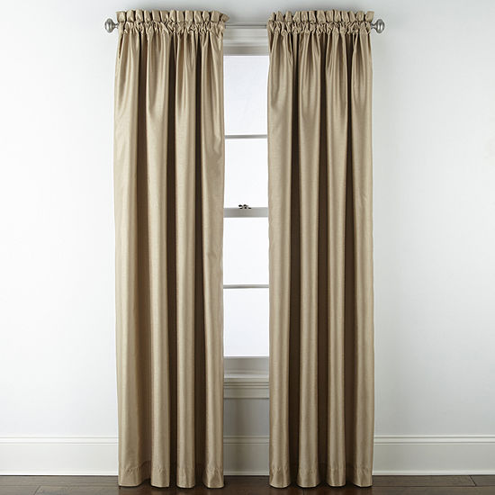 JCPenney Home Malone Blackout Rod-Pocket Single Curtain Panel