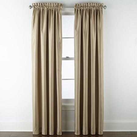 JCPenney Home Malone Blackout Rod-Pocket Single Curtain Panel, One Size , Beige