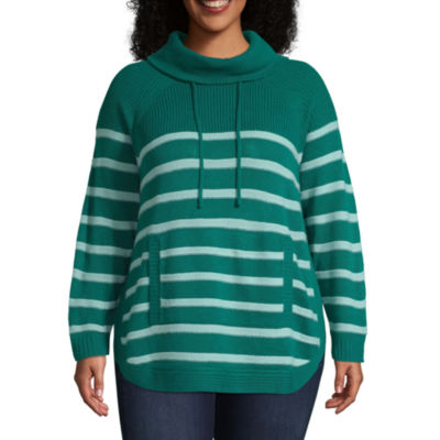 St. John's Bay Active-Plus Womens Cowl Neck Long Sleeve Pullover Sweater