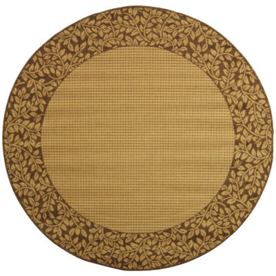 Safavieh Courtyard Collection Chad Oriental Indoor/Outdoor Round Area Rug