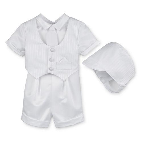Keepsake® Christening Shorts Set - Boys newborn-24m
