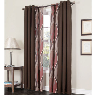 Intersect Grommet-Top Curtain Panel