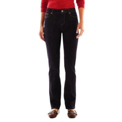 Liz Claiborne® Classic Straight Leg Jeans - Tall