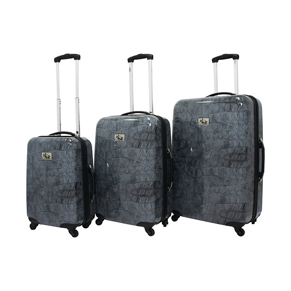 Chariot Travelware Crocodile 3-pc. Hardside Luggage Set