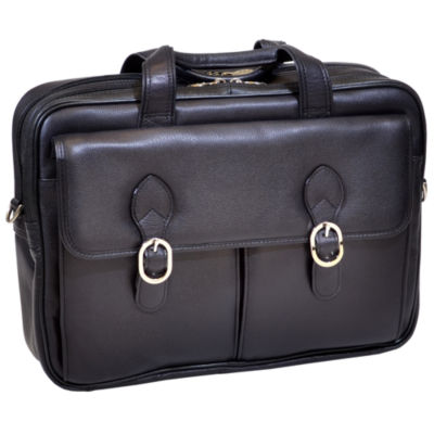 "McKleinUSA Kenwood 15.6"" Leather Double Compartment Laptop Briefcase"