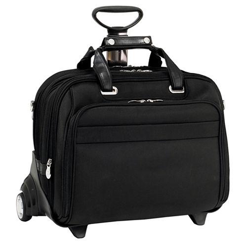 "McKleinUSA Midway 15.6"" Nylon Fly-Through™ Checkpoint-Friendly Detachable Wheeled Laptop Briefcase"