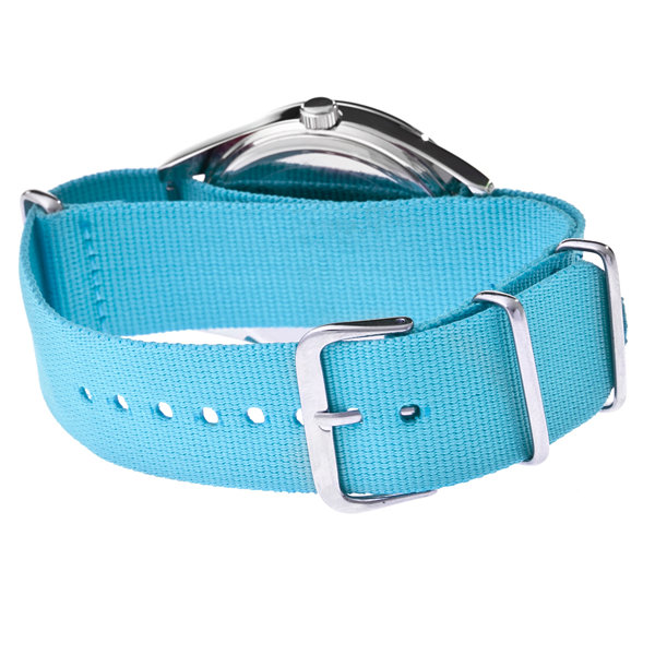 Crayo Women's Sunrise Turquoise Nylon-Band Watch with Date  Cracr1706