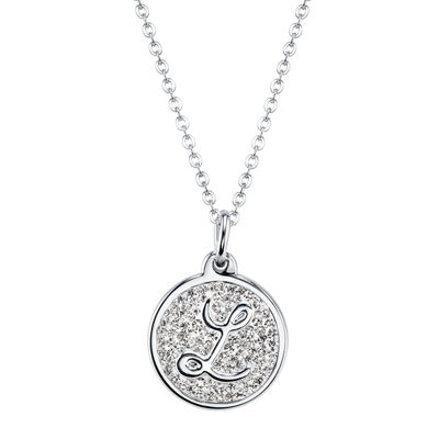 Sparkle Allure Womens Silver Over Brass Pendant Necklace