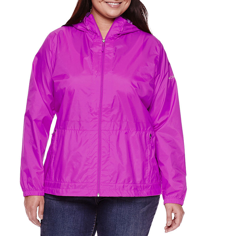"Columbia Rain to Fame"" Rain Jacket - Plus plus size,  plus size fashion plus size appare"