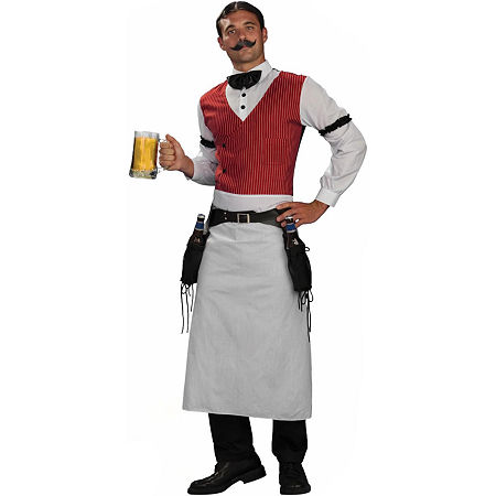 Bartender Adult Mens Costume Mens Costume, One Size , Brown