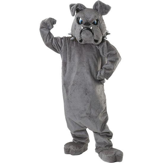 Bulldog Spike Mascot (Grey) 8-pc. Dress Up Costume Unisex