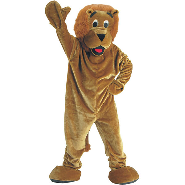 Roaring Lion Mascot Adult Unisex Costume - One-Size