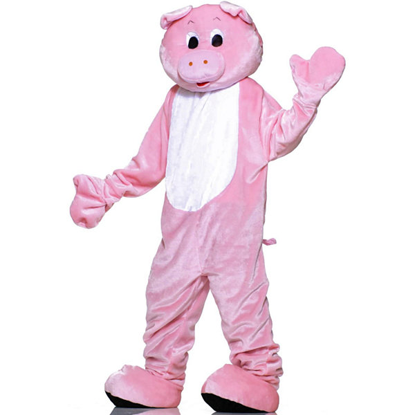 Pig Plush Economy Mascot Adult Costume - One-Size