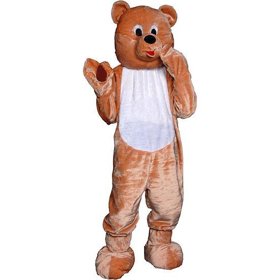 Buyseasons Teddy Bear Mascot Deluxe Costume 4-pc. Dress Up Costume Unisex