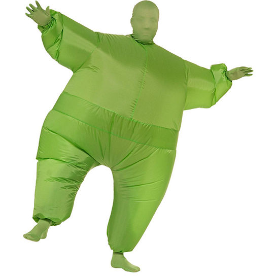 Green Inflatable Adult Suit Mens Costume