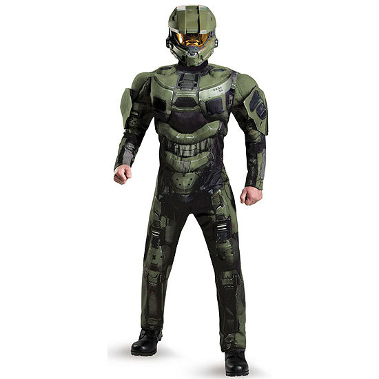 Halo Master Chief Deluxe Muscle Mens Costume (One Size)