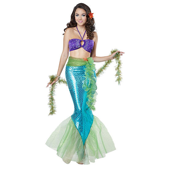 Mythic Mermaid Adult Costume 5-pc. Dress Up Costume Womens
