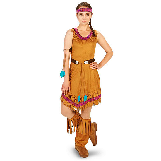 Native Princess Adult Costume 5-pc. Dress Up Costume Womens
