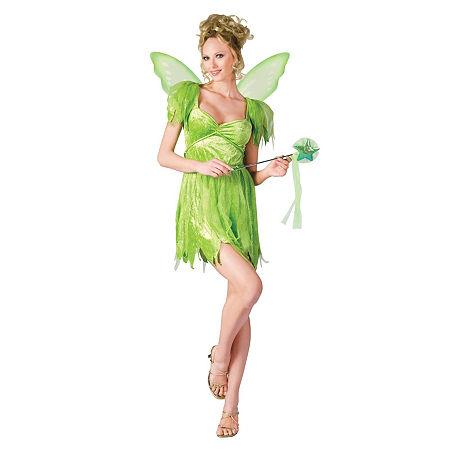Neverland Fairy Adult Womens Costume, Small-medium , Green