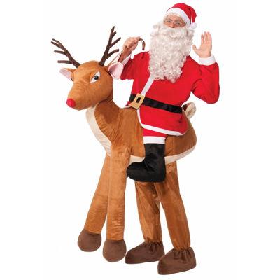 Buyseasons Ride A Reindeer 3-pc. Dress Up Costume Mens