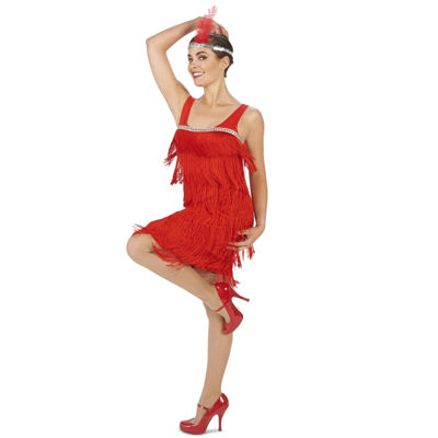 Buyseasons Roarin Red Flapper 2-pc. Dress Up Costume Womens
