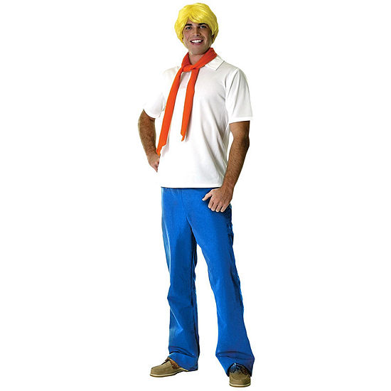Scooby-Doo Fred Adult Dress Up Costume Mens