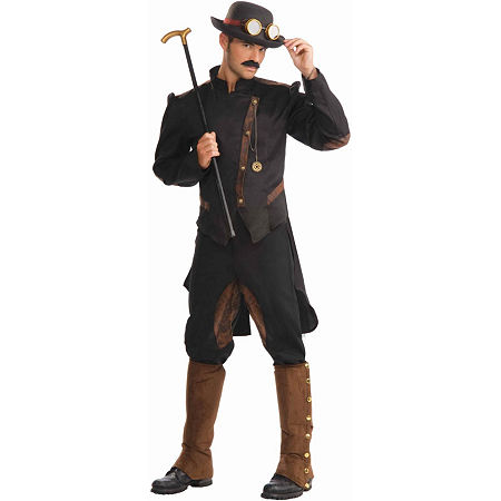 Steampunk Gentleman Adult Costume Mens Costume Mens Costume, One Size , Brown