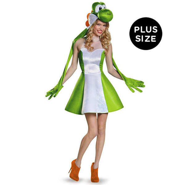 Super Mario Bros: Plus Size Womens Yoshi Costume For Adults - XL (18-20)