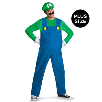 Super Mario Brothers - Luigi Adult Plus Size Costume - Plus (50-52)