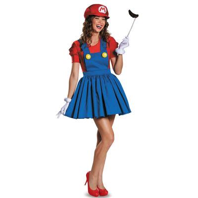 Super Mario: Mario w/Skirt Costume For Women
