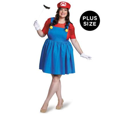 Super Mario: Plus Size Mario Costume w/Skirt For Women - XL (18-20)