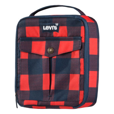 Levi Dress Blue/Red Lunch Tote