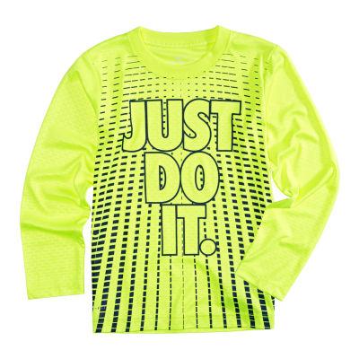 Nike Long Sleeve T-Shirt-Preschool Boys