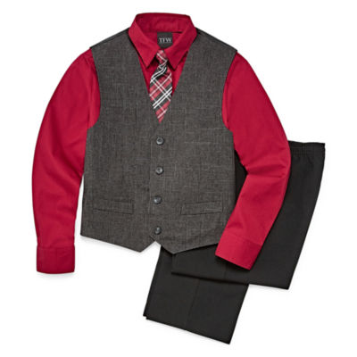 Boys 4-10 TFW 4-Piece Vest Set