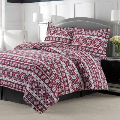 Tribeca Living Oslo Duvet Flannel 3-pc. Duvet Cover Set