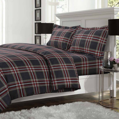 Tribeca Living Heritage Plaid Flannel 3-pc. Duvet Cover Set