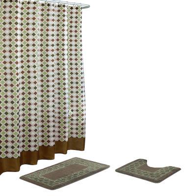 Christine 15pc Set Shower Curtain Set