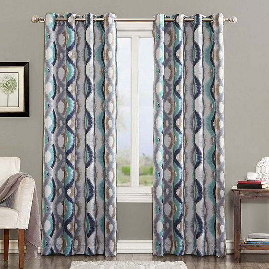 Sun Zero Andrus Energy Saving Light-Filtering Grommet-Top Single Curtain Panel