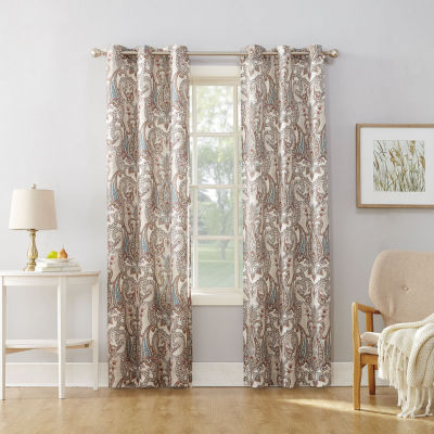 No 918 Valerie Wallace Light-Filtering Grommet-Top Single Curtain Panel