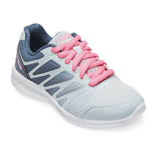 Fila Speedstride Little Kids Girls Lace-up Running Shoes